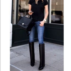 Givenchy SharkLock Fold Over Wedge Boots Leather